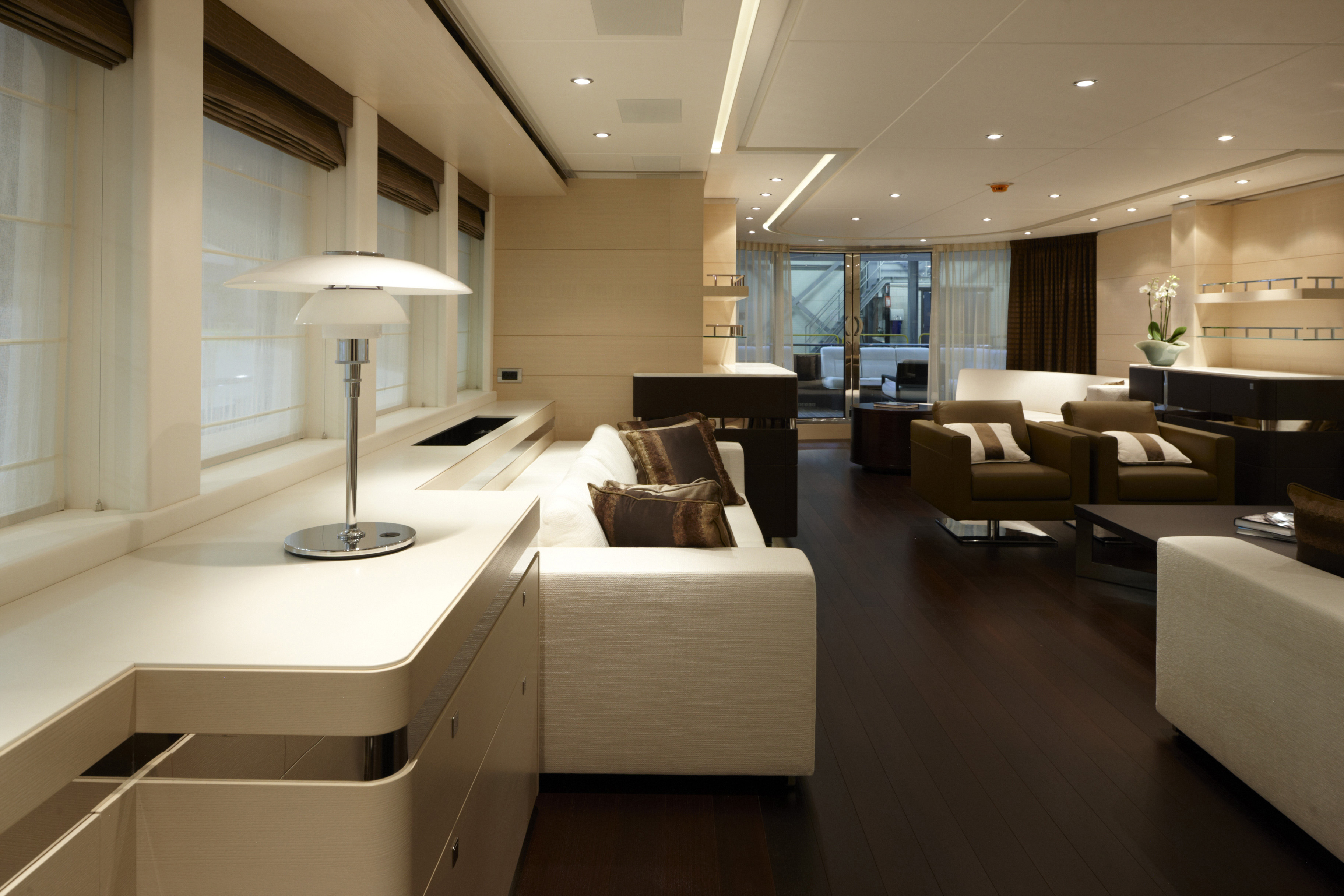 Inside luxury homes bathroom - Heesen Yachts Luxury 144ft Superyacht Lady L Launched From Shipyard